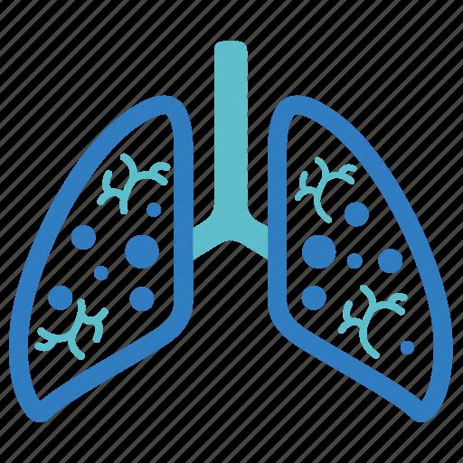 cancer, emphysema, lungs, pneumonia, pulmonology, smoked, tuberculosis icon
