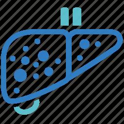 cancer, cirrhosis, hepatitis, illness, liver, liver cirrhosis, liver disease icon