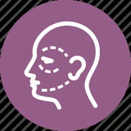 beauty, facial surgery, plastic surgery icon