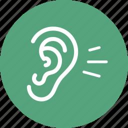 ear, hearing, otology icon