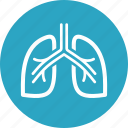 breath, lungs, pulmonology icon
