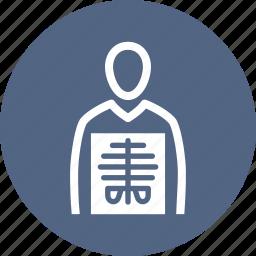 human body, radiology, xray icon