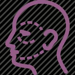 beauty, face, facial surgery, plastic surgery icon
