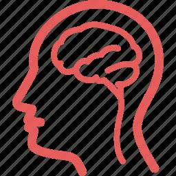 brain, human, medical, neurology icon