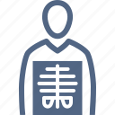 human body, patient, radiology, xray icon