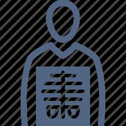 human body, patient, radiology, xray icon
