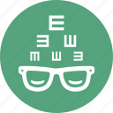 eye consultation, eyesight, glasses, optometry icon
