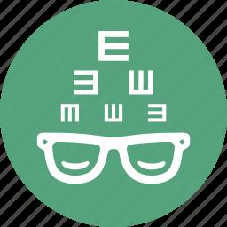 eye consultation, eyesight, glasses, optometry icon