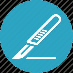 medical supplies, scalpel, surgery icon