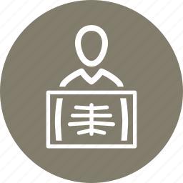 diagnosis, patient, radiology, xray icon