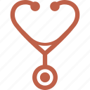 internal medicine, medical examination, stethoscope icon