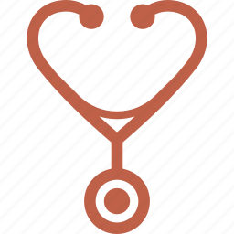 internal medicine, medical examination, stethoscope icon