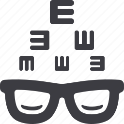 eye care, eye consultation, glasses, optometry icon