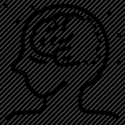 alzheimers, brain, dementia, disease, injury, neurodegenerative icon