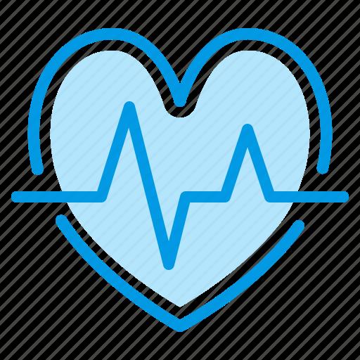 cardiogram, heart, hospital, medical icon
