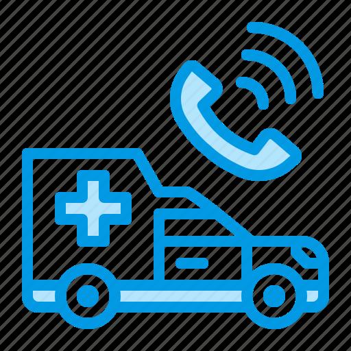 ambulance, call, doctor, hospital, urgent icon
