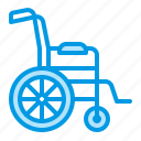 chair, disability, medical, wheel, wheelchair icon