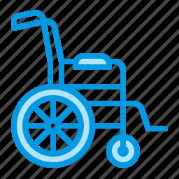 chair, disability, medical, wheel, wheelchair icon