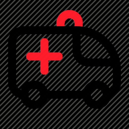 ambulance, health, medical, vehicle icon