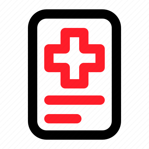 Note, medical, health, file icon