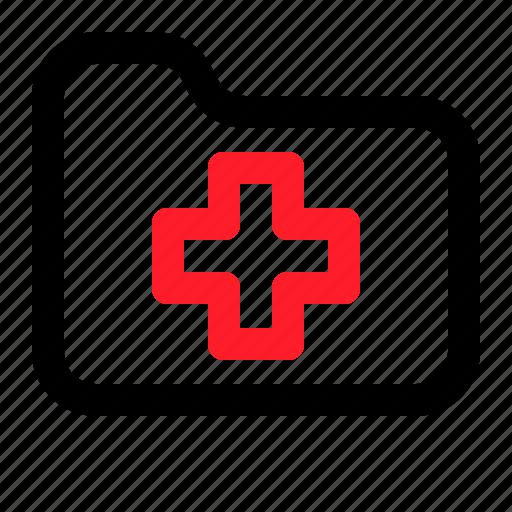 archieve, files, folder, health, medical icon