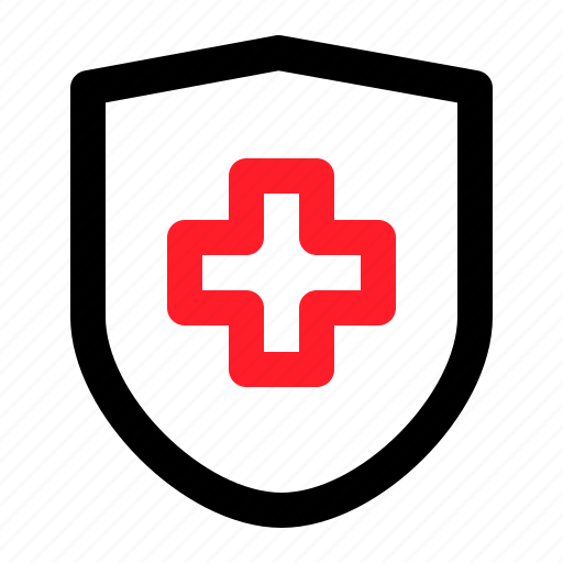 health, medical, protect, shield icon