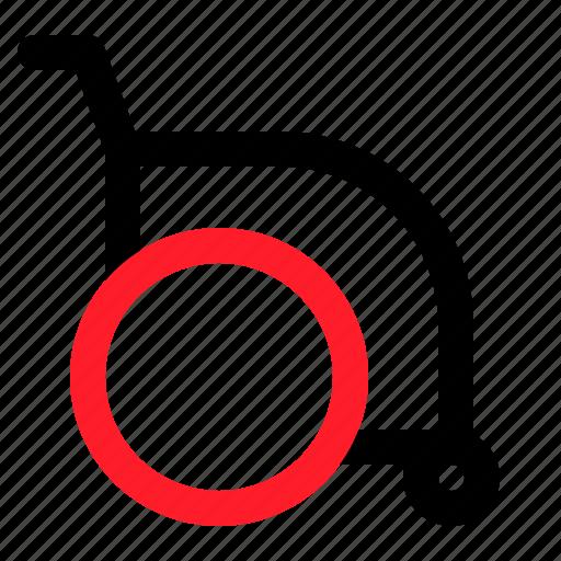 Disability, medical, health, wheelchair icon