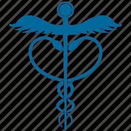 caduceus silhouette, medical caduceus, pharmacy icon