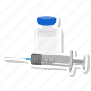 flu, injection, medical, needle, syringe, vaccination, vaccine icon