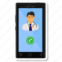 doctor, male, medical, medical assistant, phone, physician icon