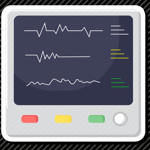device, electronics, health, medical, medical electronics, medical monitor, monitor icon
