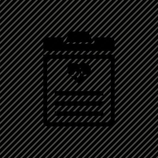 Clipboard, diagnosis, medical, paper, prescription, report icon icon - Download on Iconfinder