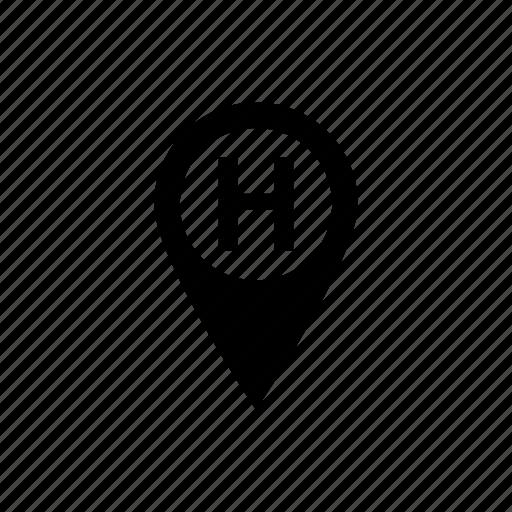 aid, hospital, location, medical, pin icon icon