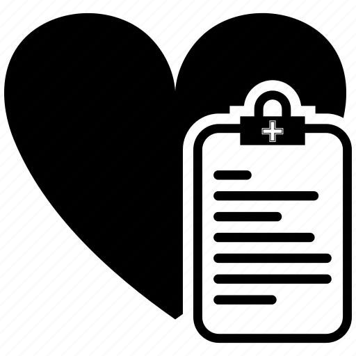 heart, love, medical, message, note, valentine icon