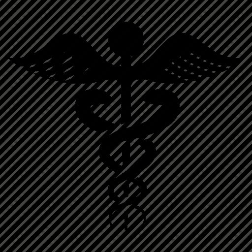 caduceus, healthcare, medical, medical sign icon