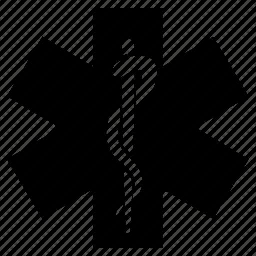 caduceus, medical symbol, rescue, rescue symbol, star of life icon