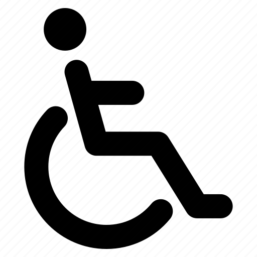 disabled, handicap, paralyze, patient, wheelchair icon