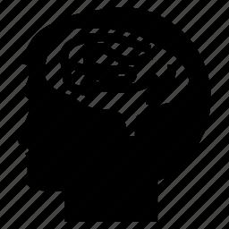 brain, cranium, head, human, mind icon