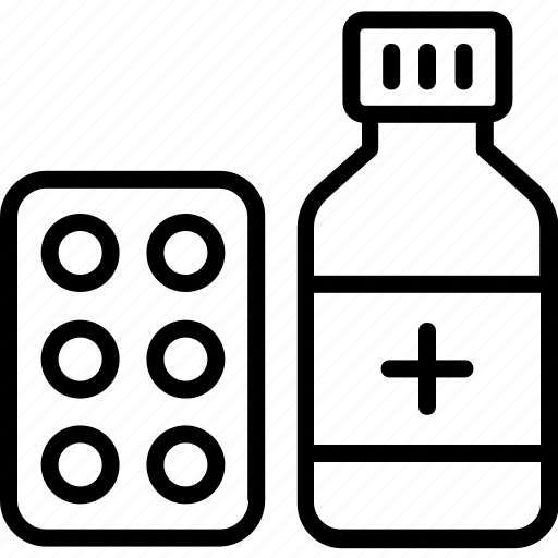 bottle, drugs, medical, medicine, pills, prescription icon icon