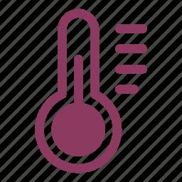 celsius, degrees, fahrenheit, temperature, thermometer icon