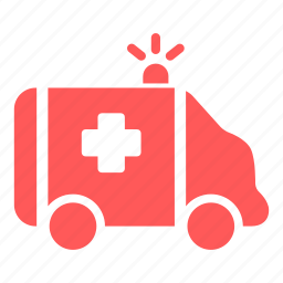 ambulance, emergency, hospital, medical, transport, vehicle icon