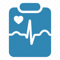 cardiogram, hospital, medical, medical result, notepad icon