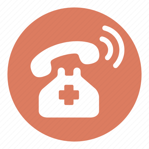 emergency, emergency calls, health care, health clinic, hospital, phone call icon