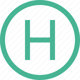 h, helicopter, helly, helly pad, hospital, pharmacy icon