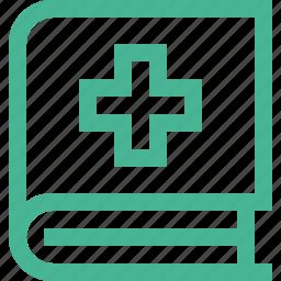 book, medical book icon