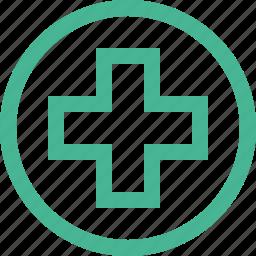 ambulance, cross, hospital, medical, pharmacy, plus icon