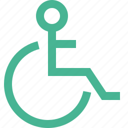 disabled, handicap, invalid, person, wheelchair icon