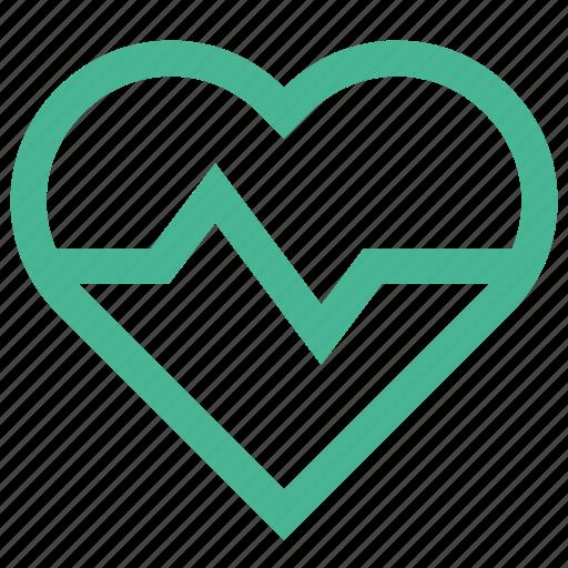 care, health, healthcare, heart, love, pulse icon