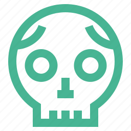 danger, dead, halloween, horror, scary, skull icon