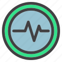 health, medical, scan, statistic icon